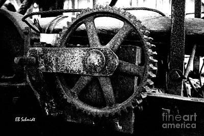 Photograph - Retired Machines 14 - Cogwheel by E B Schmidt