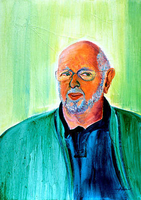 Painting - Retired Newspaper Journalist by Asha Carolyn Young