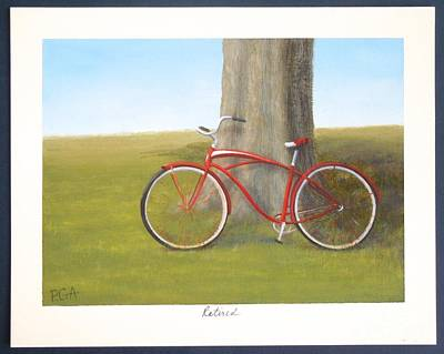 Cycles Painting - Retired by Phyllis Andrews