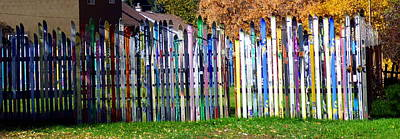 Art Print featuring the photograph Retired Skis  by Jackie Carpenter