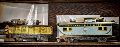 Retired Trains Art Print by Heather Applegate