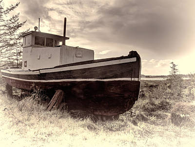 Photograph - Retired Workboat - Florence Oregon by HW Kateley
