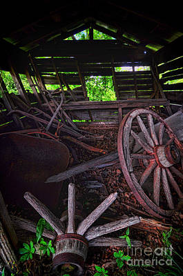 Photograph - Retirement Barn by Randy Rogers