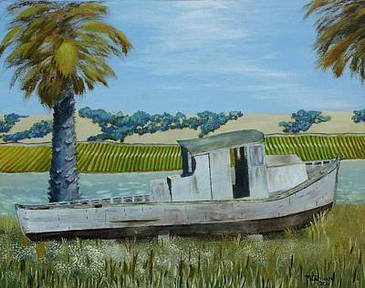 Napa Valley Vineyard Painting - Retirement On The Napa River by Mike Caitham