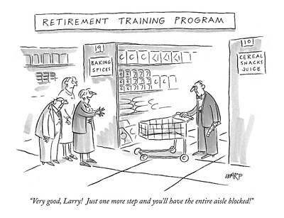 'retirement Training Program' Very Good Art Print by Kim Warp