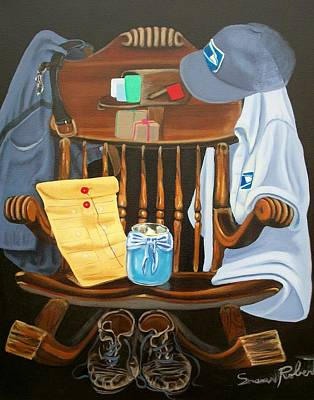 Painting - Retiring Postal Worker Letter Carrier by Susan Roberts