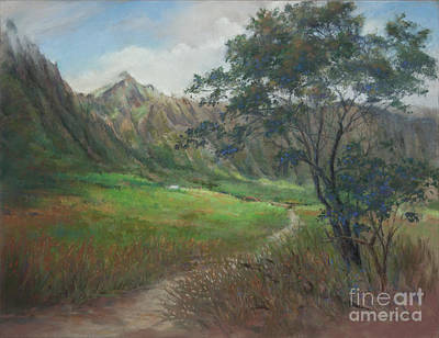 Retreat Among The Ko'olaus Original by Candace D Fenander