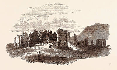 Religious Drawing - Retreat Of Edward II  To Neath Abbey, A Cistercian Monastery by English School