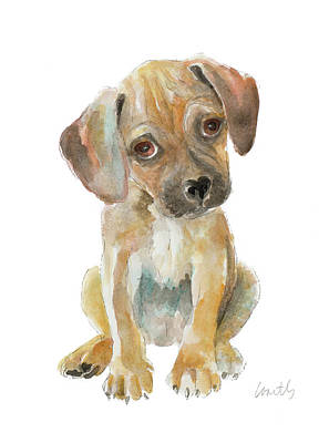 Retriever Puppy Art Print by Lanie Loreth