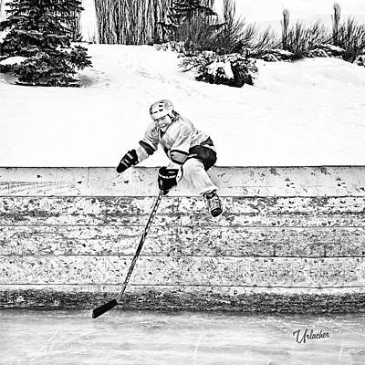 Minor Hockey Digital Art - Retrieving The Puck by Elizabeth Urlacher