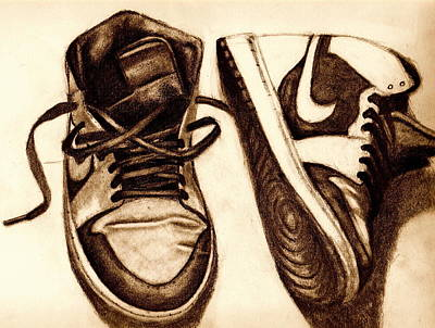 Air Jordan Drawing - Retro 1 by Dallas Roquemore