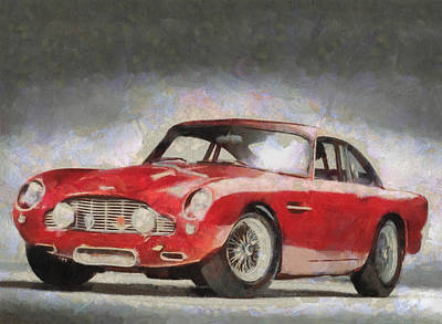 Retro Aston Martin Db5 1963-1965 Art Print