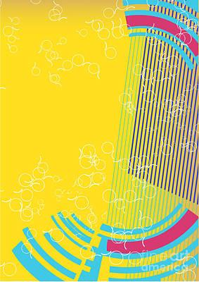Play Wall Art - Digital Art - Retro Background by Irmak Akcadogan