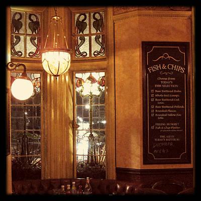 Photograph - Retro British Pub by Heidi Hermes