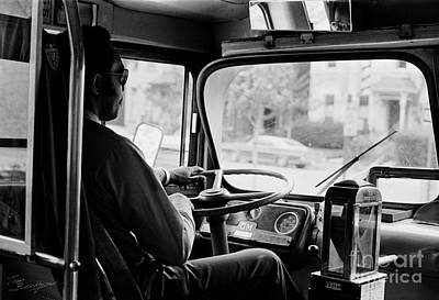 Photograph - Retro Bus Driver by Tom Brickhouse