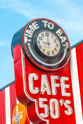 Retro Cafe Art Print
