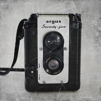 Grey Photograph - Retro Camera by Linda Woods