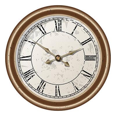 Retro Clock Art Print by Volodymyr Horbovyy