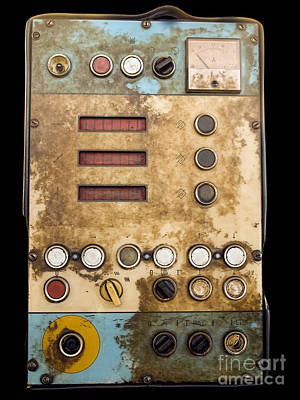 Technical Photograph - Retro Control Panel by Sinisa Botas