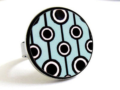 Adjustable Ring Jewelry - Retro Dreams In Turquoise Ring by Rony Bank