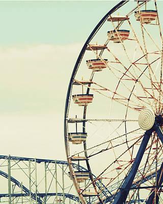 Roller Coaster Photograph - Retro Ferris by Gail Peck