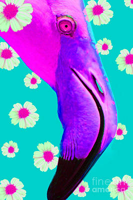Photograph - Retro Flamingo by Nola Lee Kelsey
