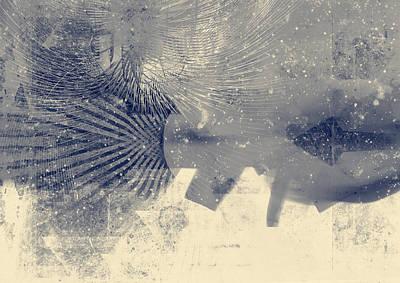 Distressed Digital Art - Retro Future by Modern Art Prints