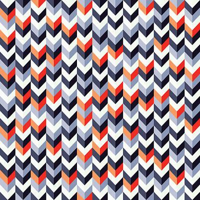 Retro Geometric Art Print