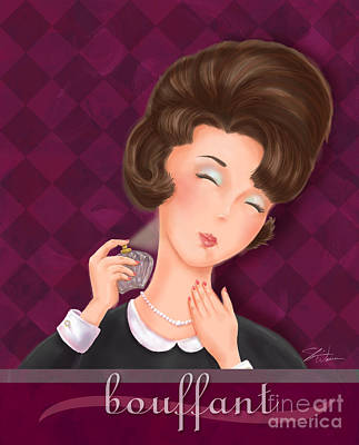 Hairstyle Mixed Media - Retro Hairdos-bouffant by Shari Warren
