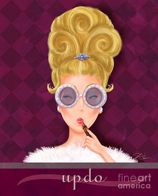 Retro Hairdos-updo Art Print by Shari Warren