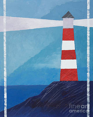 Graphical Painting - Retro Lighthouse by Lutz Baar