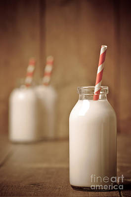 Milk Bottle Photograph - Retro Milk Bottle by Amanda Elwell