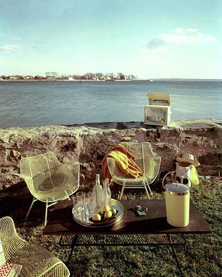 Outdoor Still Life Photograph - Retro Outdoor Furniture by Fred Lyon