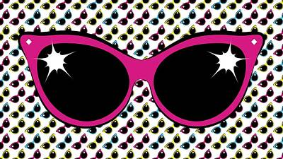 Digital Art - Retro Pink Cat Sunglasses by MM Anderson