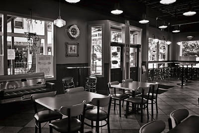 Photograph - Retro Restaurant In B/w by Greg Jackson