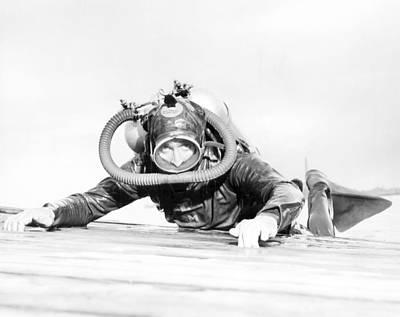 Photograph - Retro Scuba Gear by Retro Images Archive