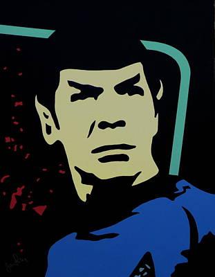 Retro Spock Art Print by Ian  King