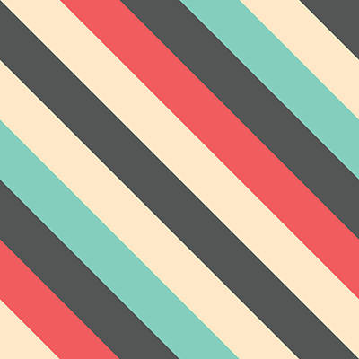 Comedian Drawings - Retro Striped Pattern by Mike Taylor