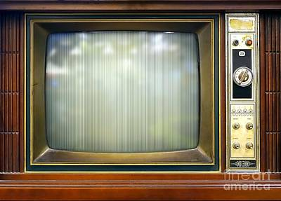 Photograph - Retro Style Television Set With Bad Picture by Yali Shi