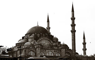 Photograph - Retro Sultanahmet Mosque by John Rizzuto