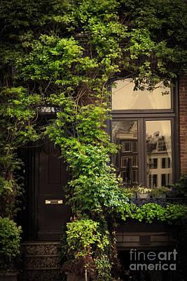 Window Photograph - Retro Vintage House Entrance by Michal Bednarek