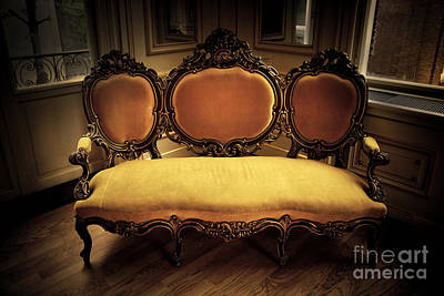 Couch Photograph - Retro Vintage Sofa by Michal Bednarek