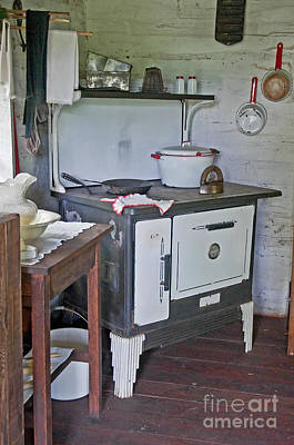 Retro woodstove in kitchen photograph by valerie garner - Valerie garnering ...
