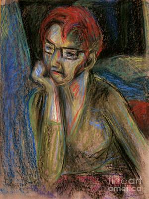 Retrospection - Woman Art Print