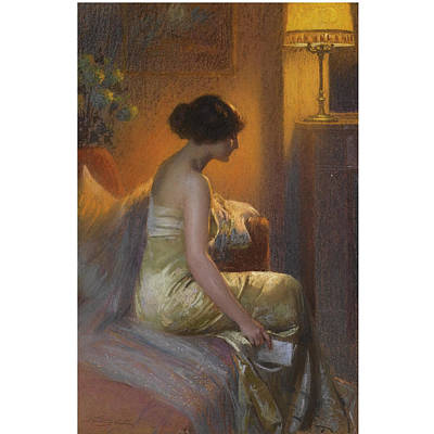 Chaise Longue Painting - Return From The Ball by Delphin Enjrolas