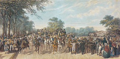 Horse Racing Painting - Return From The Derby, 1862 by John Frederick Herring Snr