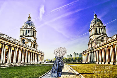 Royal Naval College Photograph - Return From The Past. by Ludmila Nayvelt