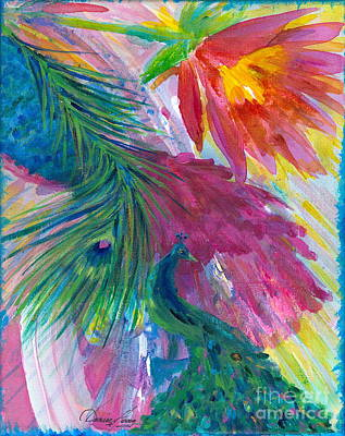 Painting - Return Of The Peacocks by Denise Hoag