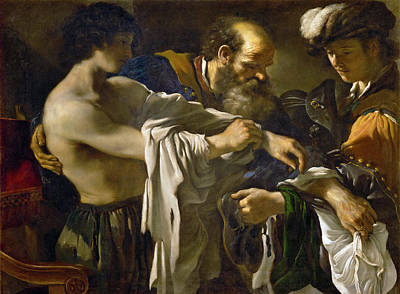 Guercino Painting - Return Of The Prodigal Son by Guercino