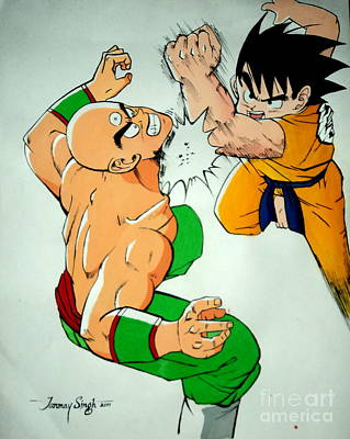 Painting - Return Of Vegeta by Tanmay Singh